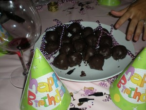 Birthday dinner party and chocolate Oreo balls- yum