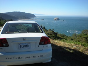 BLR Mobile on the side of the Pacific Coast Highway, California