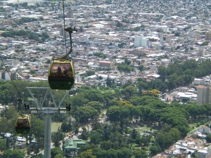 Gondola ride in Salta, Argentina