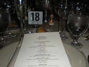 Table 18 at Ginny and Chris' wedding