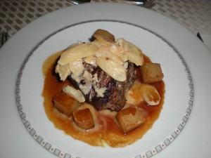 Dinner filet with potatoes and salsify