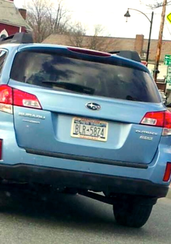 License Plate BLR