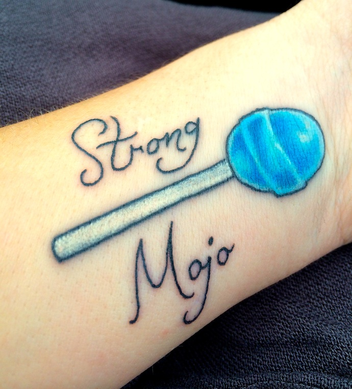 Blue Lollipop Road tattoo