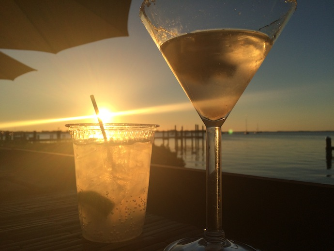 Sunset cocktails