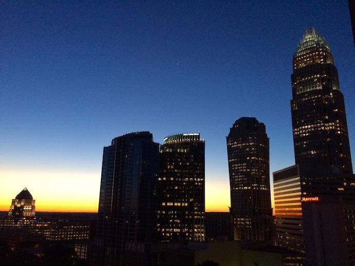 Uptown CLT sunrise
