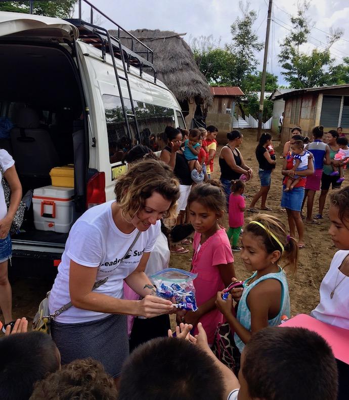 Blue Lollipop Road in Nicaragua
