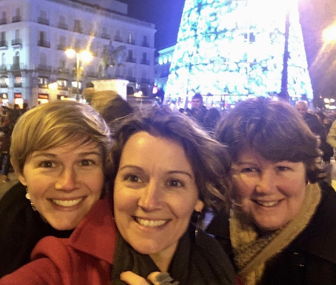 Peacock Girls in Spain